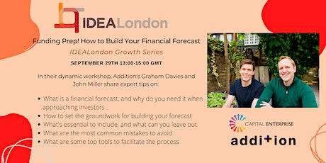 Funding prep! How to build your financial forecast. tickets