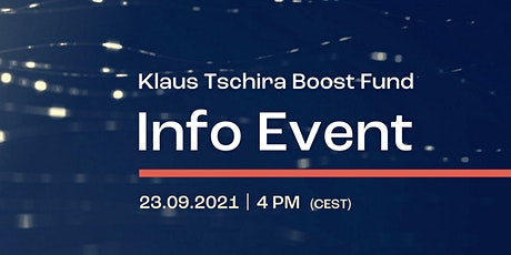 How to Apply for the Klaus Tschira Boost Fund? Tickets