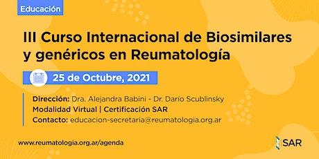 III Curso Internacional de Biosimilares y genéricos en Reumatología entradas