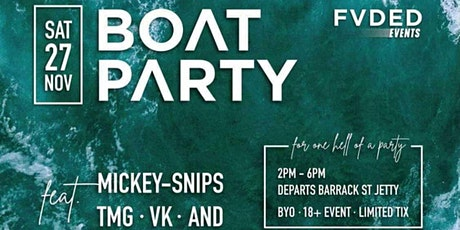 FVDED EVENTS - LAUNCH BOAT PARTY tickets