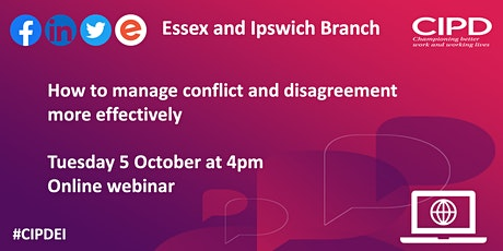 How to manage conflict and disagreement more effectively tickets