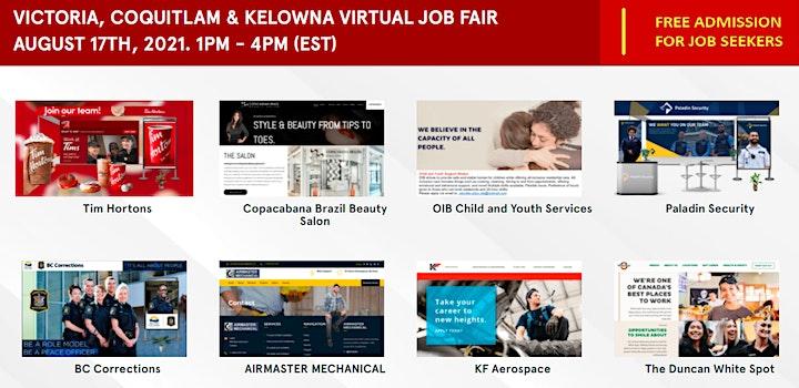 Kelowna Virtual Job Fair - Tuesday, August 17th 2021 image