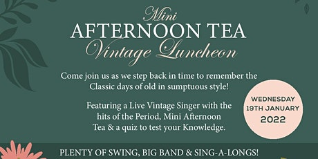 Vintage Luncheon Event / Mini Afternoon Tea / Live Singer tickets