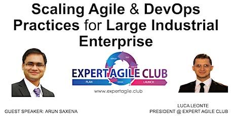 Scaling Agile & DevOps Practices for Large Industrial Enterprise tickets