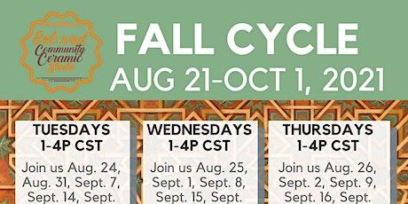 Fall 2021: Handbuilding Classes tickets