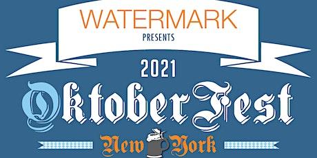MONDAY-THURSDAY: OktoberFest NYC 2021 at WATERMARK - Prost!! tickets