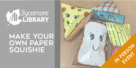Make Your Own Paper Squishies tickets