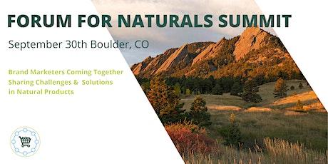 CMO Forum for Naturals Summit tickets