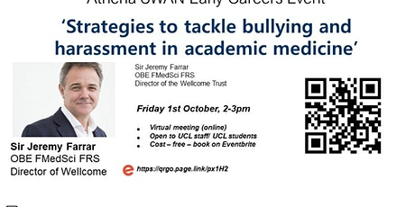 Strategies to tackle bullying and harassment in academic medicine tickets