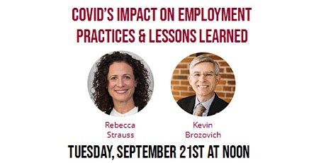 Covid's Impact on Employment Practices & Lessons Learned tickets