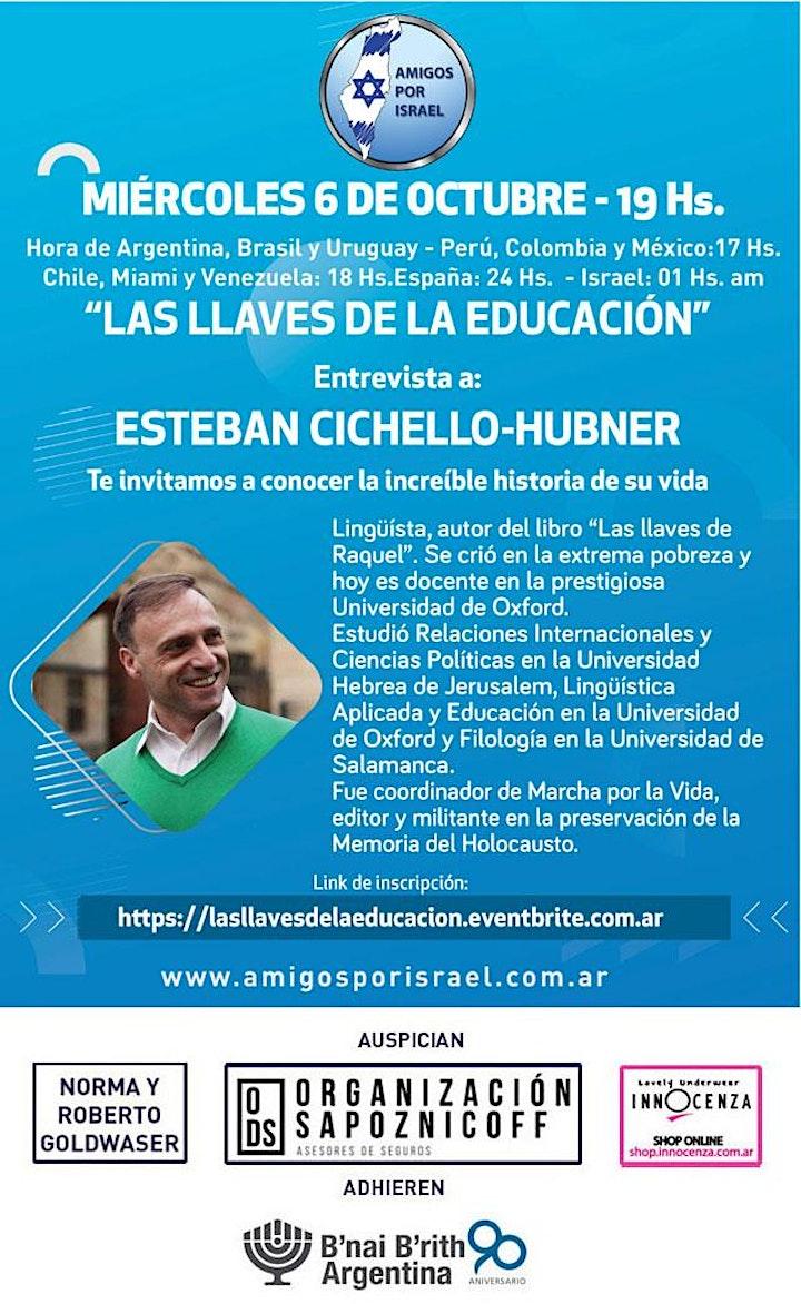 """Imagen de """"LAS LLAVES DE LA EDUCACIÓN"""" Entrevista a: ESTEBAN CICHELLO-HUBNER"""