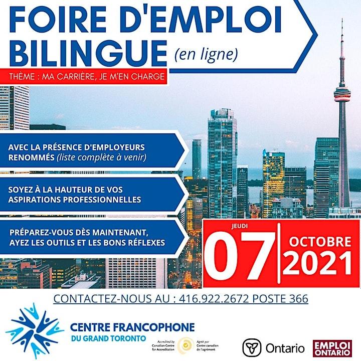 Foire de l'emploi bilingue - Bilingual virtual job FairCFGT 2021 image