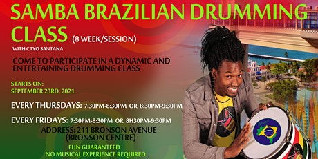Afro-Brazilian Drumming Class tickets
