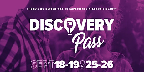 DRIVER'S PASS - Niagara Grape and Wine Discovery Pass - Weekend 2 tickets