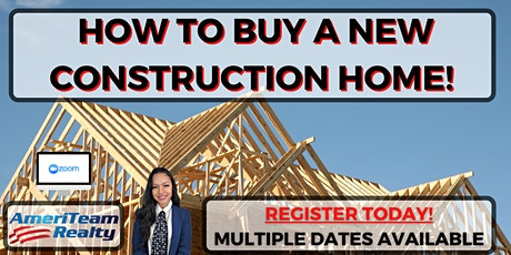 How To Buy New Construction - Zoom Webinar tickets