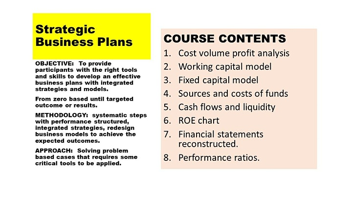 STRATEGIC BUSINESS PLANS for CEOs  -  online event image