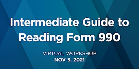 Intermediate Guide to Reading Form 990 tickets