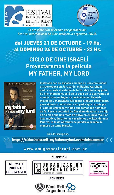Imagen de CICLO DE CINE ISRAELI: PELICULA MY FATHER, MY LORD