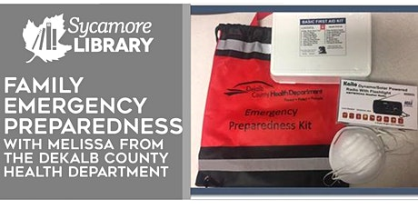Emergency Preparedness for Families: with DeKalb County Health Department tickets