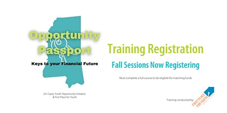 Opportunity Passport Keys to Your Financial Future Fall 2021 (Wednesdays) tickets