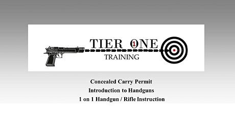 NC Concealed Carry Certification Class tickets