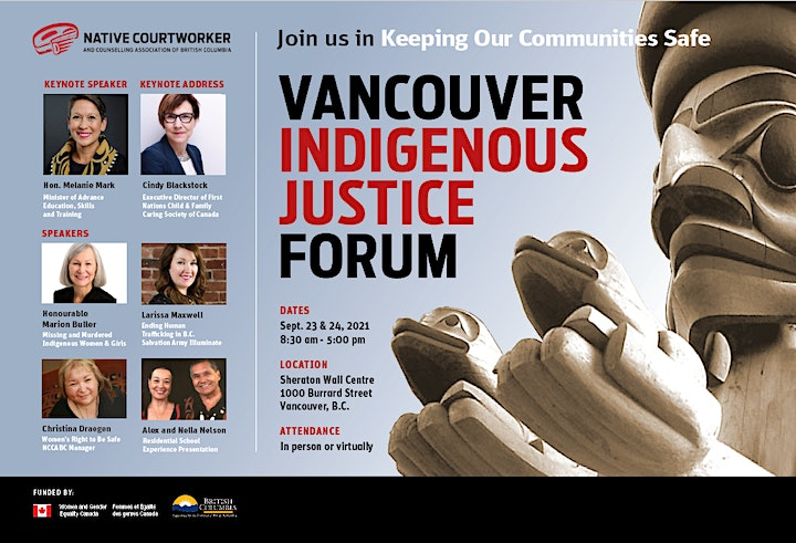 Vancouver Indigenous Justice Forum image