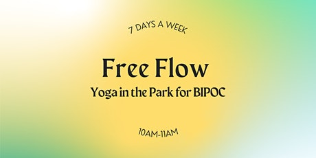 Free Yoga in the Park for BIPOC tickets