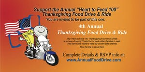 "4th Annual ""Heart to Feed 100"" Thanksgiving Food Drive..."