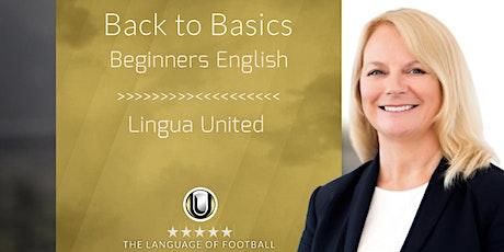 Inglés para principiantes - curso intensivo LIVE y curso online boletos