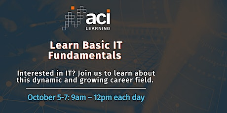 Learn Basic IT Fundamentals - October 2021 tickets