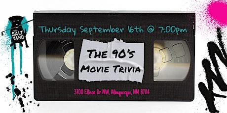 90's Movie Trivia at Salt Yard West tickets