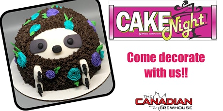 CakeNight - Ellerslie- Sloth Cake tickets
