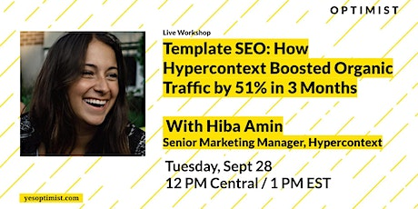 Template SEO: How Hypercontext Boosted Organic Traffic by 51% in 3 Months ingressos
