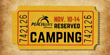 RESERVED RV CAMPING ONLY - Peach State Classic tickets