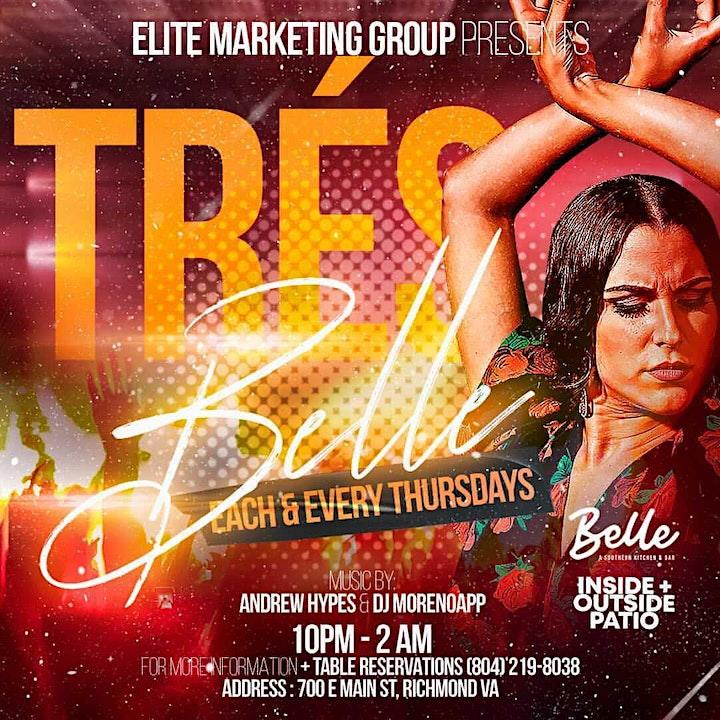TRES BELLE (International Thursdays @ BELLE RVA) image