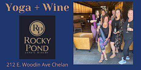 Yoga + Wine at Rocky Pond  Chelan Tasting Room tickets