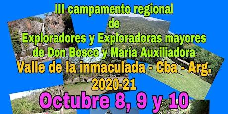 3 CAMPAMENTO REG. DE LOS EXPLORADORES MAYORES DE D. BOSCO Y M. AUXILIADORA entradas