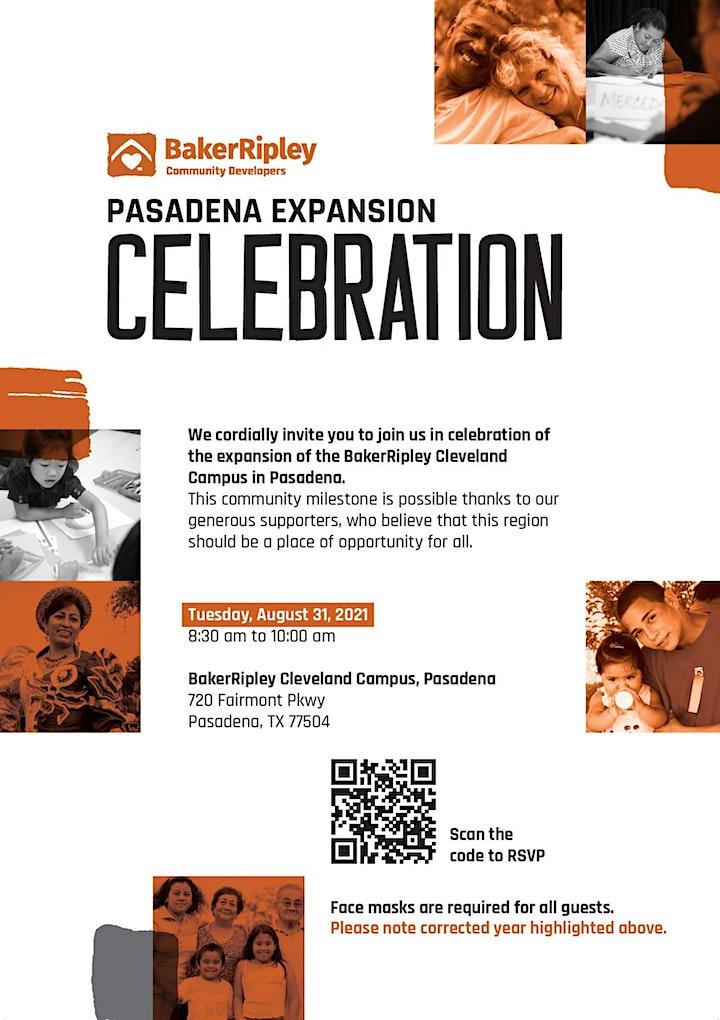The BakerRipley Pasadena Campus Expansion Celebration image