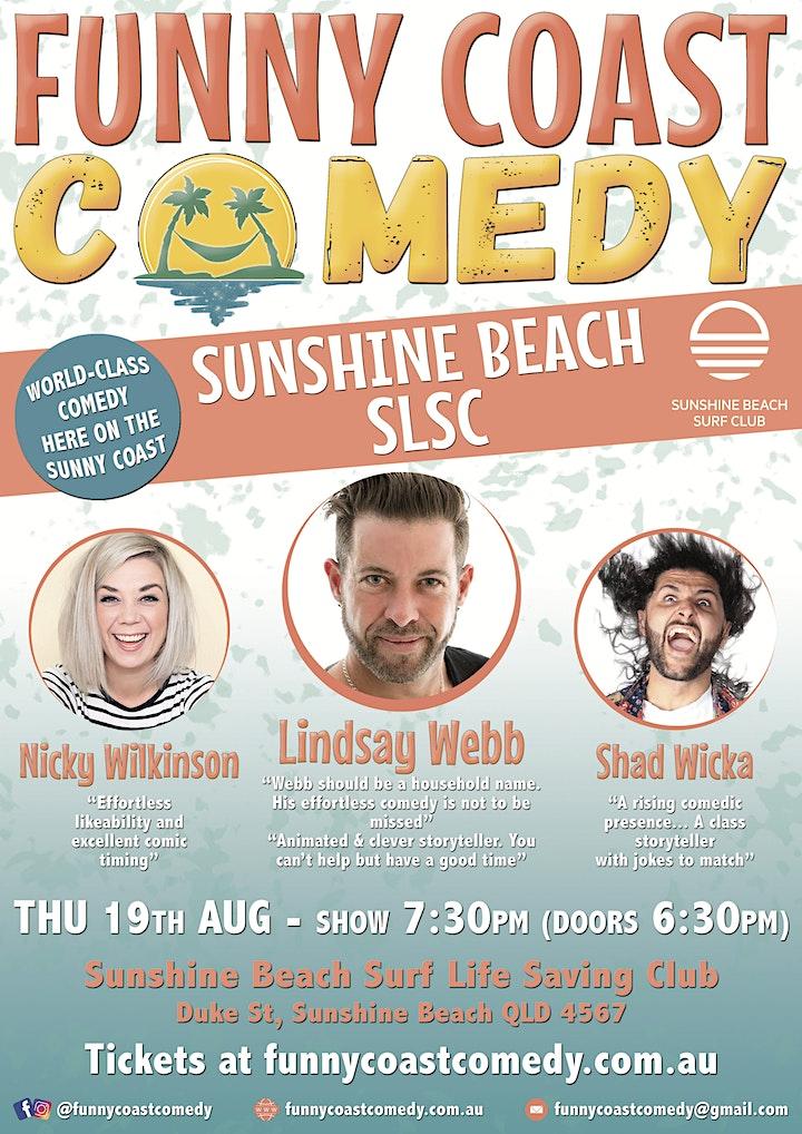 Funny Coast Comedy @ the Sunshine Beach Surf Club // Thursday 19th August image