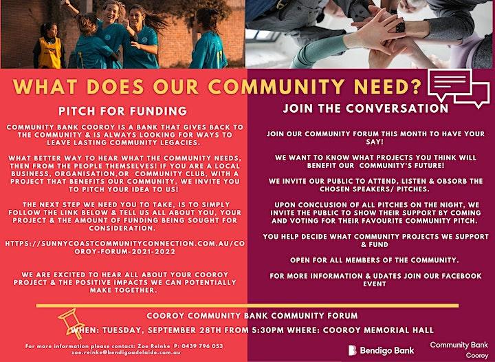 Cooroy Community Forum image
