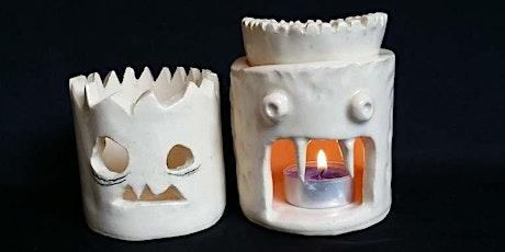 Make a Spooky Lantern/Oil Burner | Pottery Workshop w/ Siriporn Falcon-Grey tickets