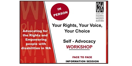 Your Rights, Your Voice, Your Choice Weekday Course tickets