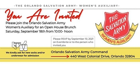 Salvation Army Women's Auxiliary Open House Brunch tickets