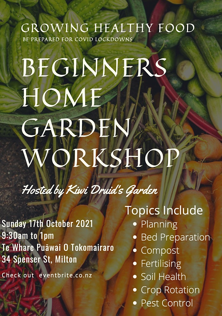 Beginners Home Garden Workshop image