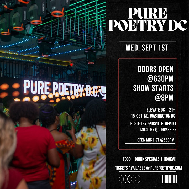 Pure Poetry DC Open Mic image