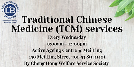 Traditional Chinese Medicine (TCM) services tickets