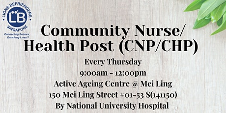 Community Nurse/Health Post (CNP/CHP) tickets