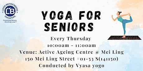 Yoga for Seniors tickets