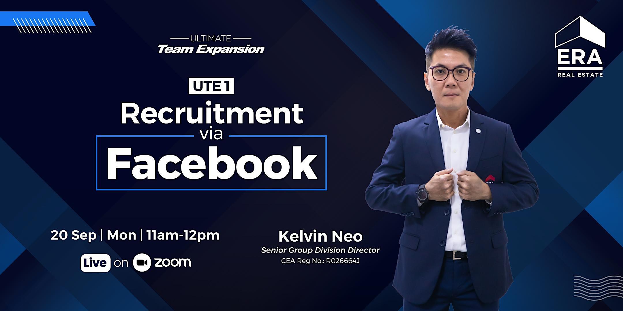 UTE 1 : Recruitment via Facebook