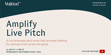 Amplify Live Pitch | September 29th tickets